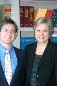 Brad Fletcher and Kentucky Supreme Court Justice Mary C. Noble