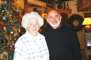 Mike Chaney and his mother, Betty Chaney visit together at The Country Place Gallery in  Madison County. Mike is  co-owner of the business housed in a barn north of Richmond. The business offers art, fine furnishings and crystal chandeliers.