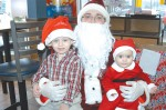 Santa comes to McDonald in spite of the snow storm