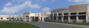 Above is an artist's rendering of the new school that will be built in West Irvine.
