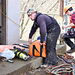 Divers from Marine Solutions in McCreary County were called on two times in the past week to unclog the intake to the water plant.  Flooding and the resulting onslaught of debris has created lots of problems with the intake pipe over the past few weeks.