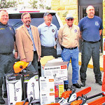 Before the Monday night fiscal court meeting, the county received $8,000 in equipment to supply a storm response trailer.