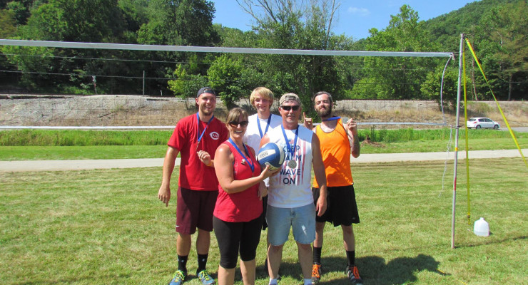 "The ""Grave Diggers"" were the prevailing team in the Estill Action Group's Christmas in July tourney last Saturday.  They are pictured here wearing their medals.  In the back row are Jake Henry, Eli Eaton and Tyler Jordan.  In front, are Lisa and Robin Bicknell. Photo submitted"