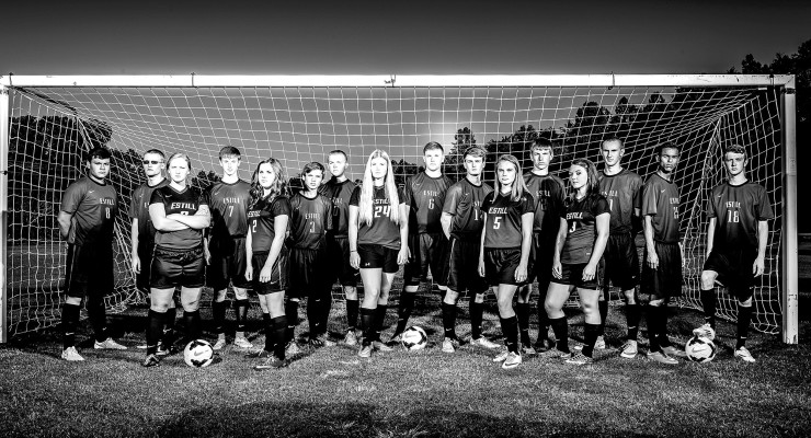 Photo submitted Pictured above are all the Estill County High School boy and girl soccer team players.  See brief bios at right and below.
