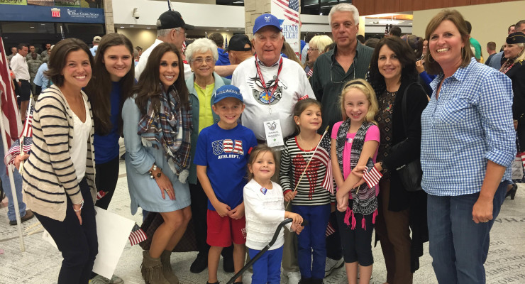 Photos courtesy of Marlowe Steger A large group of family and friends welcomed Emanuel Blackwell, Jr. home from his 'Honor Flight.'