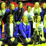 Varsity cheerleadering squad wins for seventh year