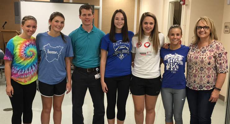 The Estill County High School girl's soccer team was the first to participate in the Sportsmetrics program at Marcum and Wallace Hospital.